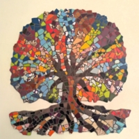 Mosaic Tree-Art Group called 'Artists Anonymous' aged 14 - 16